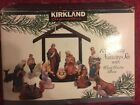 Kirkland Christmas Signature Porcelain 13 Piece Nativity Set All Figures Mint