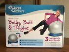 Weight Watchers Work Your Belly Butt Thighs DVD 2011 With Stability Ball