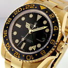 ROLEX GMT MASTER ll 116718 18K YELLOW GOLD BLACK DIAL CERAMIC BEZEL OYSTER USED