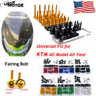 For KTM 1190 RC8R 2009 2010 2011 Complete Bolt Motorcycle Fairings Clips Kits