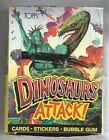 1988 Topps Dinosaurs Attack Wax Box 36 Factory Sealed Wax Packs