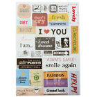 DIY Lovely Retro Paper Stickers For Scrapbooking Planner Calendar Diary Sticky