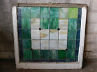 Antique Craftsman Style Church Stained Glass Window - 1910 Architectural Salvage