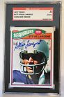 Signed Steve Largent 1977 Topps Rookie Seattle Seahawks Card #177 SGC Slabbed
