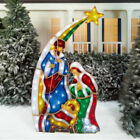 LED Nativity Set Holiday Time 72 Indoor Outdoor Home Yard Christmas Decoration