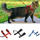 US Pet Cat Kitten Adjustable Outdoor Control Harness Lead Leash Collar Belts