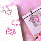 4pcs Pig Pink Bookmark Paper Clip School Office Supply Escolar Gift StationeryH