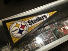 THE PITTSBURGH STEELERS STAINED GLASS PENNANT DANBURY MINT LIGHTS UP