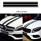 1 Pair Black Car Auto Hood Vinyl Stickers Decal Engine Cover Styling Decoration