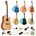 Acoustic Guitar with Guitar Case Strap TunerPick Steel Strings Steel stringed
