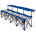 Folding Camping Tournaments Soccer Picnic 4 Person Convertible Bench Chair Seat