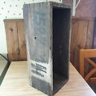 Antique Primitive Old Wooden Box From Old-Time Farm Auction Nice Flower Box