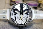 Mr Daddy White Watch Dz7401 Diesel Multiple Time chronograp Silicone Men S Strap