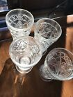 BIG TOP GOTHIC FOOTED STEMMED GLASS HAZEL ATLAS 1950'S Water Iced Tea Set Of 8