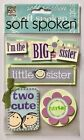 NIP BIG SISTER THEMED STICKERS by ME  MY BIG IDEAS 5X7 PACKAGE BABY FAMILY