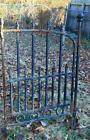 Rustic Vintage Wrought Iron Garden Gate Rusty Architectural Decor #2
