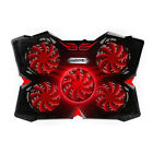 LED Light Laptop Cooling Pad Gaming Stand Cooler for 12 17 inch Laptops RED