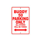 GENUINE SCOOTER COMPANY BUDDY 50 Parking Only Motorcycle Bike Aluminum Sign