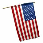 American USA US Flag 3x5 Ft Embroidered Stars Sewn Stripes Nylon Pole Sleeve