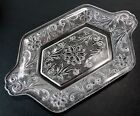 Indiana Glass SANDWICH CLEAR Diamond Creamer Tray Handled Rectangular Platter