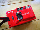 Konica POP-10 / Tomato - compact 35mm film camera mde in Japan - RED