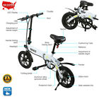 14 Folding Electric e Bike Collapsible Moped Bicycle W LED Headlight USB Port