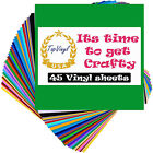 40 Pack Vinyl Sheets Permanent Self Adhesive for Cricut Window Letter Transfer