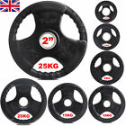 Olympic Rubber Cast Iron Weight Plates Sets Weights Set 2 TriGrip Disc Plate