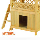 Wooden Pet House Cat Room Dog Puppy Kennel Indoor Outdoor Shelter with Roof