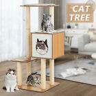 72 Cat Tree Condo Climbing Tower Scratching Kitty House w Hammock 3 Rats Beige
