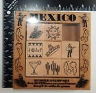 All Night Media Plaid Enterprises Mexico Rubber Stamp Set 8 Stamps 2445R