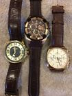 3 Gold and Rose Gold Watch Lot Sale Triumph, Festina and Melbourne