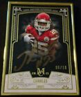GOLD METAL FRAME AUTO #'D 6 10 2015 Topps JAMAAL CHARLES Museum Framed Autograph