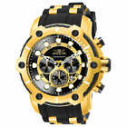 Invicta Bolt Chronograph Gold Tone Men's Watch Stainless Steel Case Water Resist
