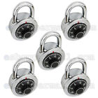 1 To 6 Combination Lock Dial Padlock Hardened 50mm Steel Gym Locker Bike School