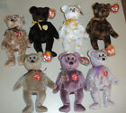 MINT TY Beanie Baby Signature Bear Set of 7 1999-2004, 2006 **CUTE**