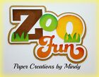 CRAFTECAFE MINDY ZOO FUN FIELD TRIP premade paper piecing TITLE scrapbook