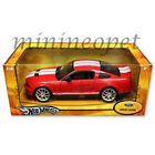 HOT WHEELS J2855 2007 SHELBY GT 500 1 18 DIECAST RED with WHITE STRIPES