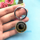 Combination Lock Art Photo Tibet Silver Key Ring Glass Cabochon Keychains 295