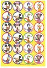 1 Sheet of Mickey Mouse Disney Character Stickers