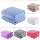 2 PC Micro Plush Bath Towel Set 30 x 60 inches 350GSM Soft Absorbent 6 Colors