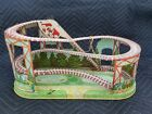 1950s J Chein Ride A Rocket Wind Up Tin Toy Roller Coaster Combo Nice Litho VTG