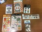 7 New Sheets Halloween SCRAPBOOKING Stickers Rub Ons Embellishments
