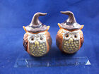 NIB Cracker Barrel Brown Orange Owl Fall Witches Salt and Pepper Shakers 9183B13
