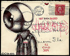 US cover altered mail art history Eyekon Philatelic ephemera low brow drawing
