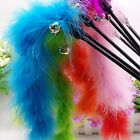 Funny Cat Kitten Pet Teaser Turkey Feather Wire Chaser Wand Toys With Bell Cute