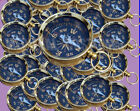 A37MM Necklace Style Lot of 100 Shinny Brass Working Compass-Nautical decor