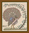 Lady In Thread FOLK ART BIRD II Cross Stitcht antique needlework reproduction