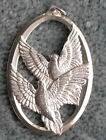 Wallace Sterling Silver 1976 Medallion Christmas Ornament Doves