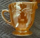 Vintage Oven Fire-King Ware Peach Luster Leaf Pattern Creamer cup